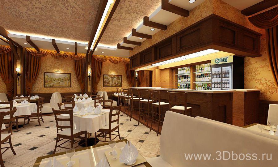 Дизайн потолков для баров