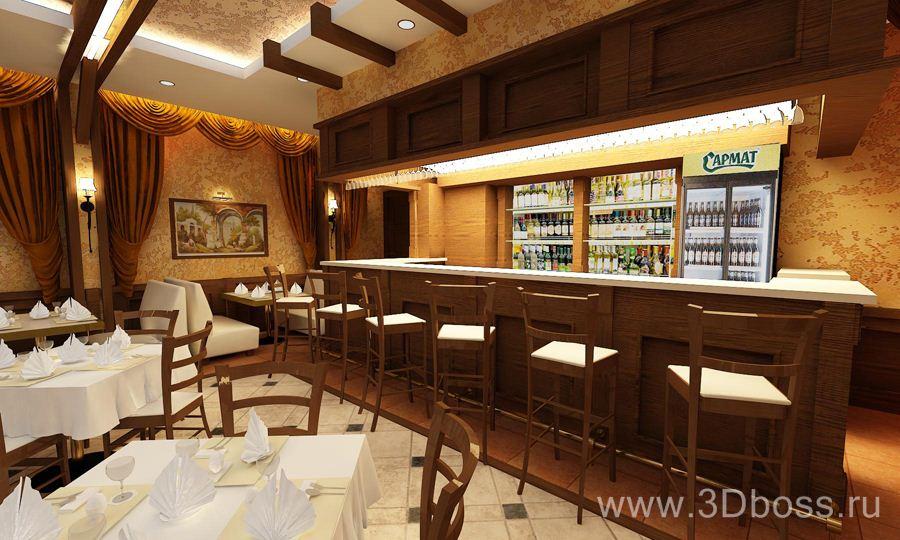 Заказать дизайн интерьера ресторана: стоимость - Клен