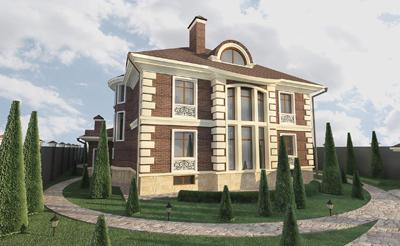 Дизайн проект фасадов имеет следующий